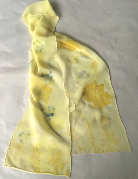 Silk Georgette flower print scarf